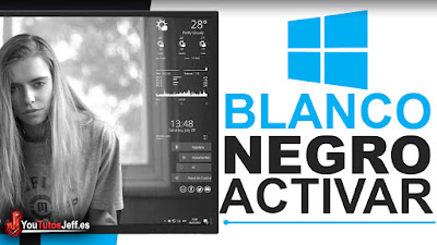 poner pantalla blanco y negro con windows 10