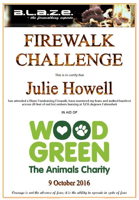 Fire walk challenge certificate