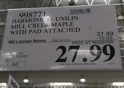 Deal for Harmonics Mill Creek Maple Laminate Flooring at Costco