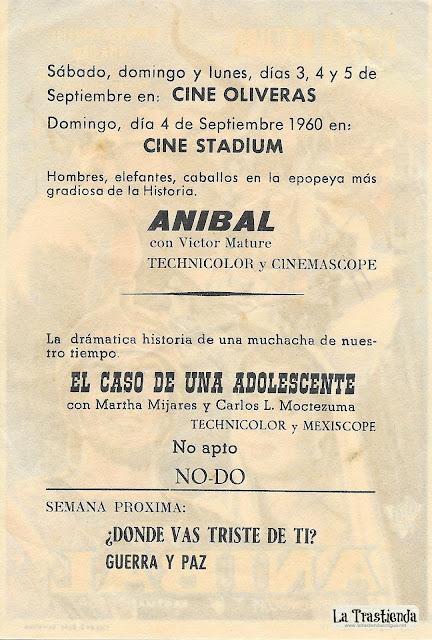 Aníbal - Programa de Cine - Victor Mature - Gabriele Ferzetti - Rita Gam