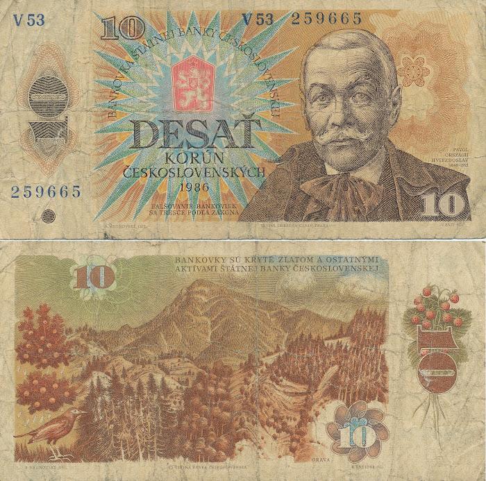monnaie tchéchoslovaque, © L. Gigout, 1990