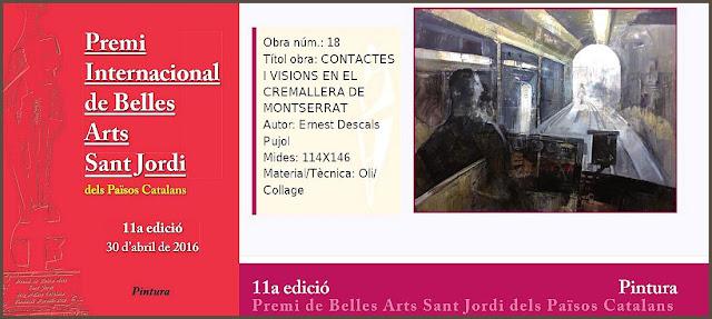 FUNDACIO PERELLO-PREMI-INTERNACIONAL-BELLES ARTS-SANT JORDI-PINTURA-ARTISTA-PINTOR-ERNEST DESCALS