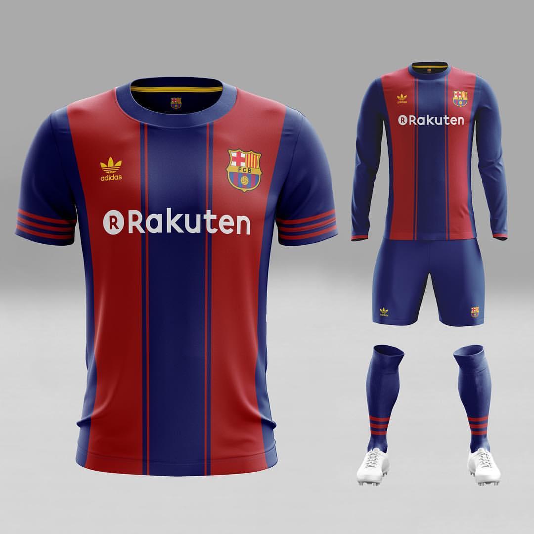 0361fc25b Spanish giants FC Barcelona fantasy kit looks very classy