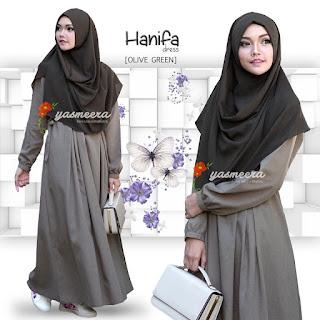 Gamis Yasmeera Hanifa Dress Olive Green