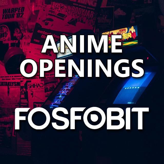 Imagen con el logotipo de DJ Fosfobit y las letras Anime Openings en blanco