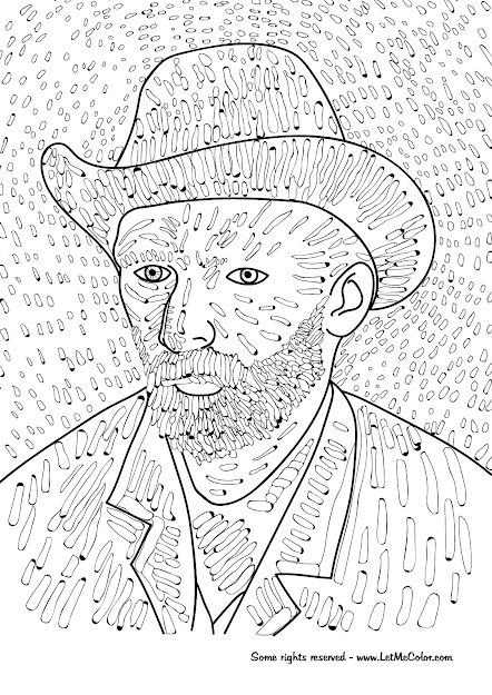 Coloring Page Of Vincent Van Goghs Self