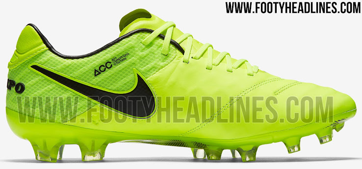 quality design b7926 7c6bd Predominantly Volt, Nike combines it first Nike Tiempo Legend 6 2017 cleat  with black applications to make nothing wrong.