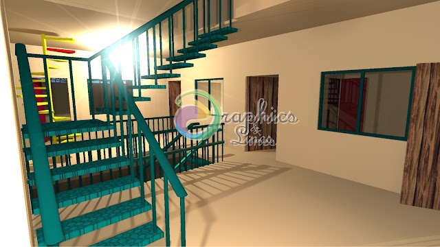 3D model of a School at Muzaffarabad AJK