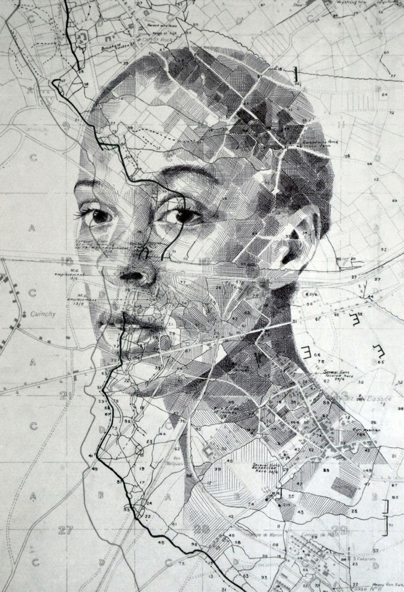 He Starts With Old Maps… And Ends Up With Portraits You'd LOVE To Own.