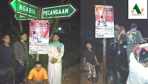 Ansor Ngabul Pasang Puluhan Banner Pengajian Gus Muwafiq di Lokasi Ini