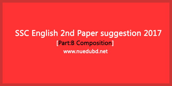SSC English 2nd paper suggestion 2018