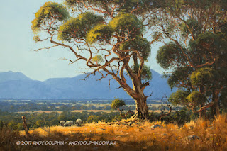 white gums near stiling range. oil painting by andy dolphin.