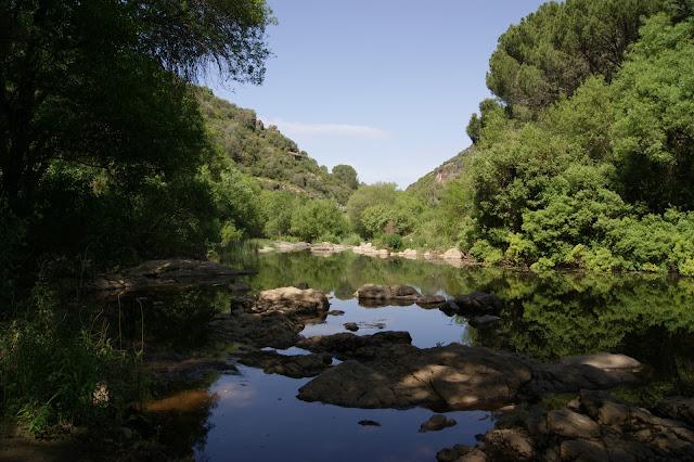 La tabla de la aldea , en el Río Guadiato .