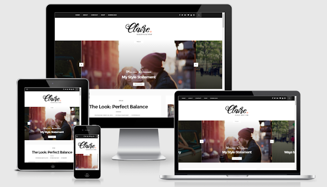 Claire - Personal  Responsive Blogger Template