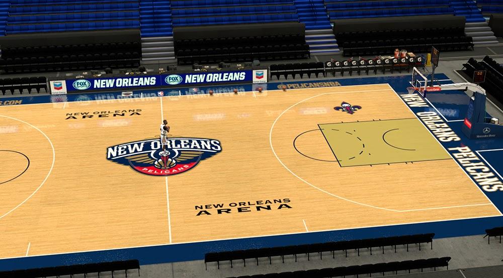 Nba 2k14 New Orleans Pelicans Court Update Nba2k Org
