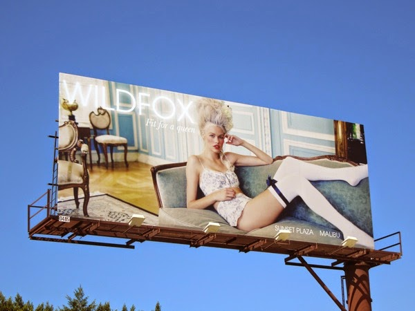 Wildfox Fit for a queen billboard