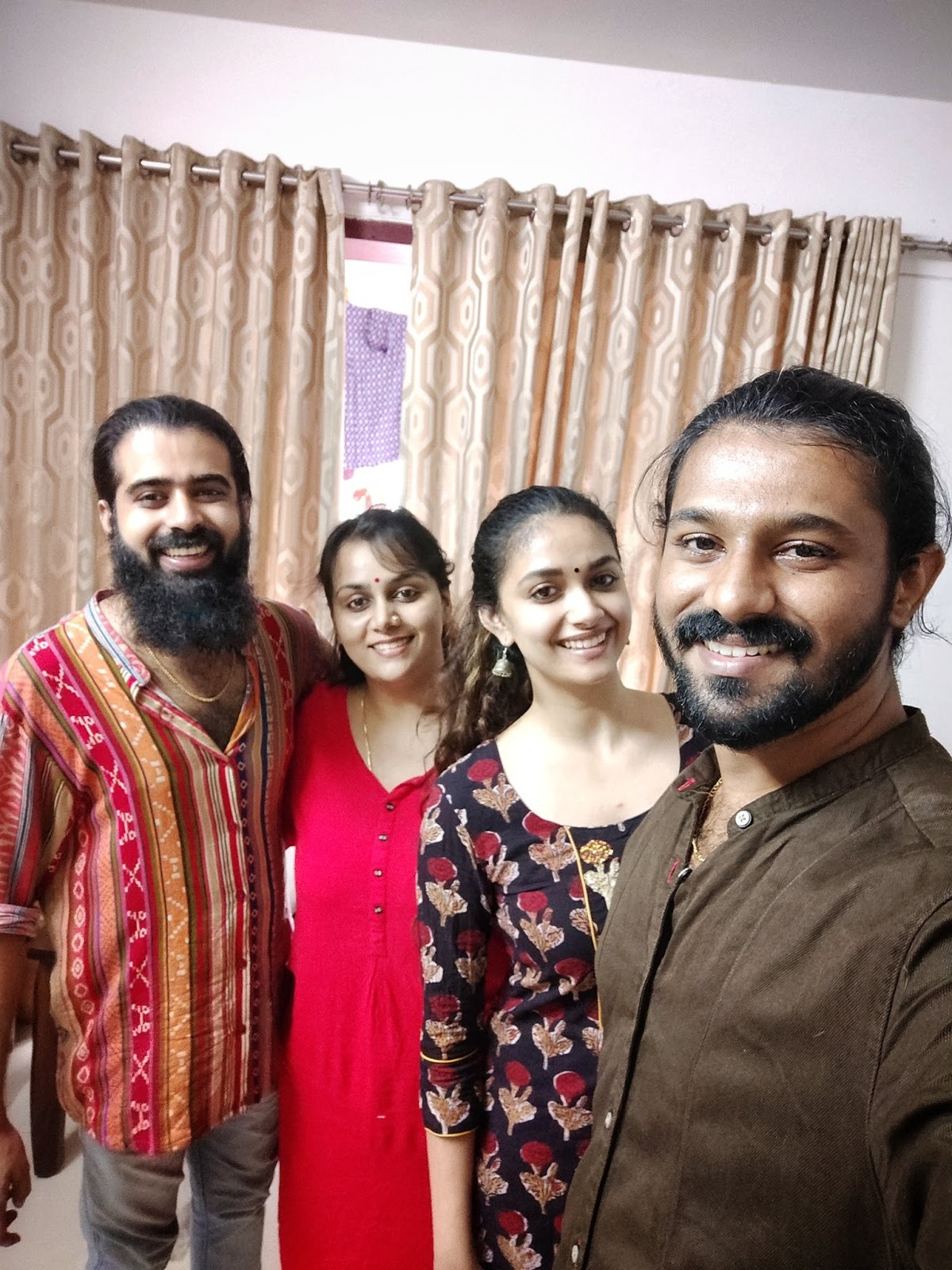 Keerthy Suresh with Awesome Lovely Smile with her Akka Revathy Suresh and Friends 1