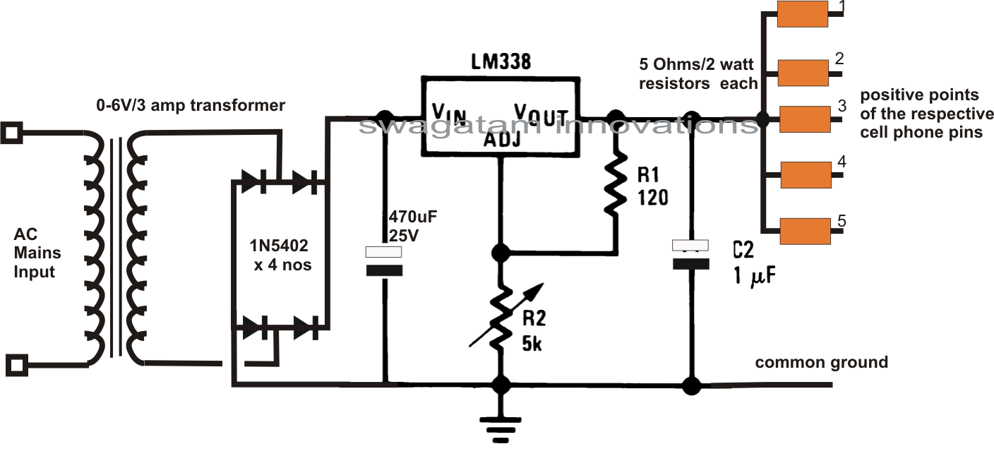 Nokia mobile charger circuit diagram circuit diagram images nokia mobile charger circuit diagram dc multi cell phone charger circuit using lm338 ic ccuart