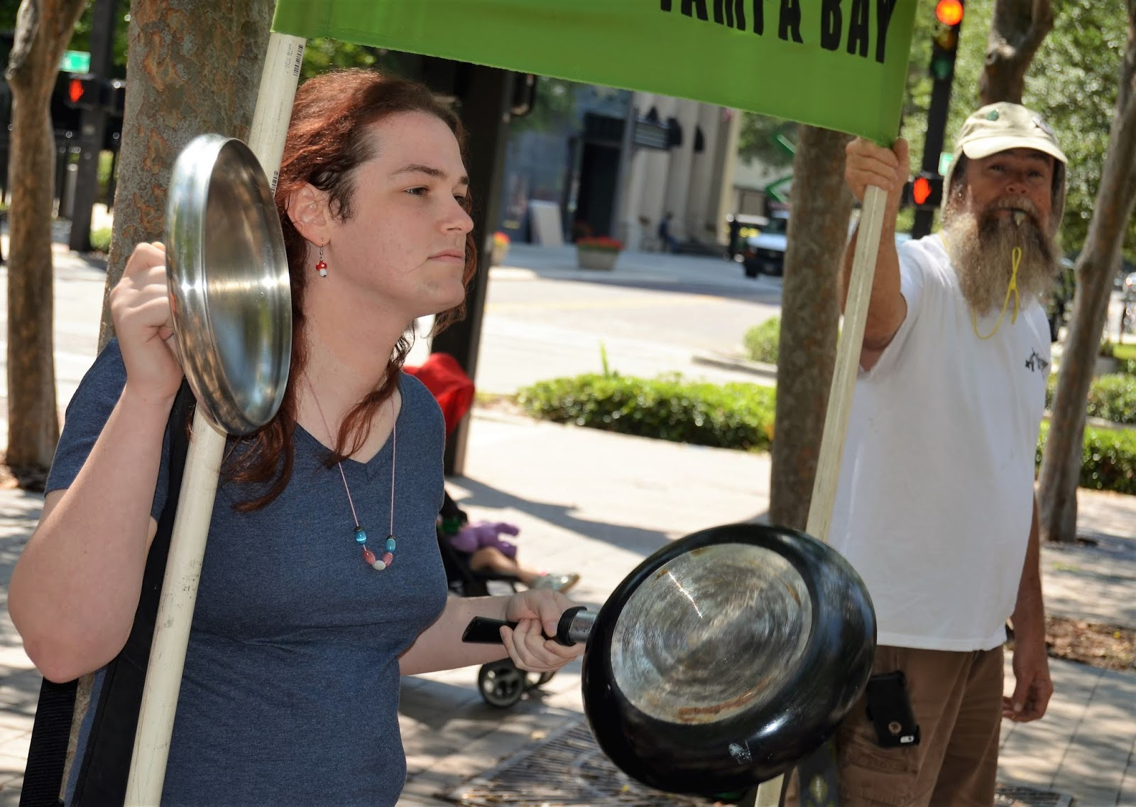The Ybor City Stogie: TECO Protest In Tampa