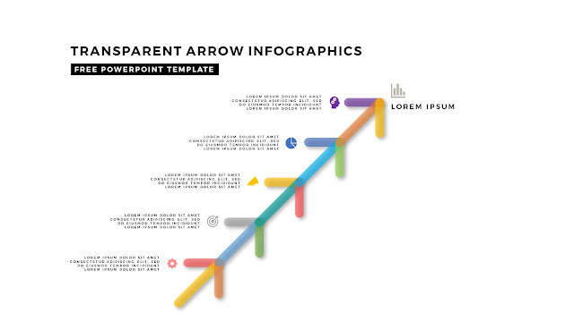 Transparent Arrow Design Elements for Free PowerPoint Template Slide 4