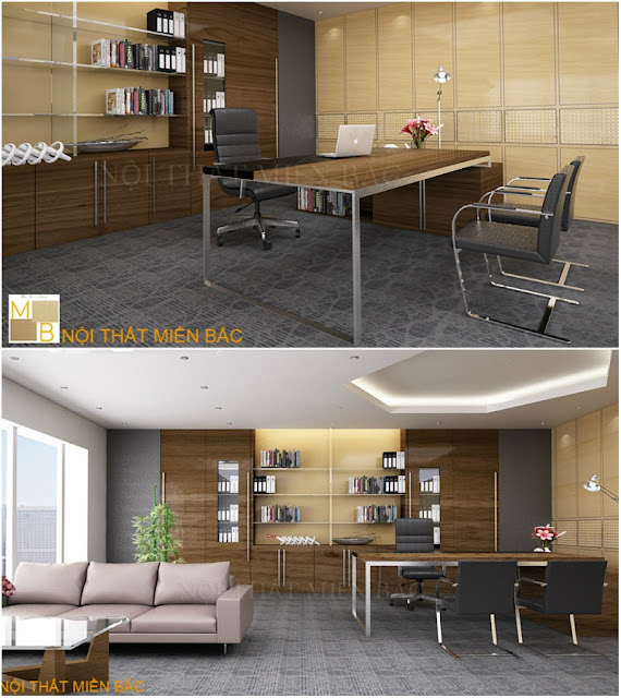 Thiết kế văn phòng hiện đại đầy tinh tế, nhẹ nhàng