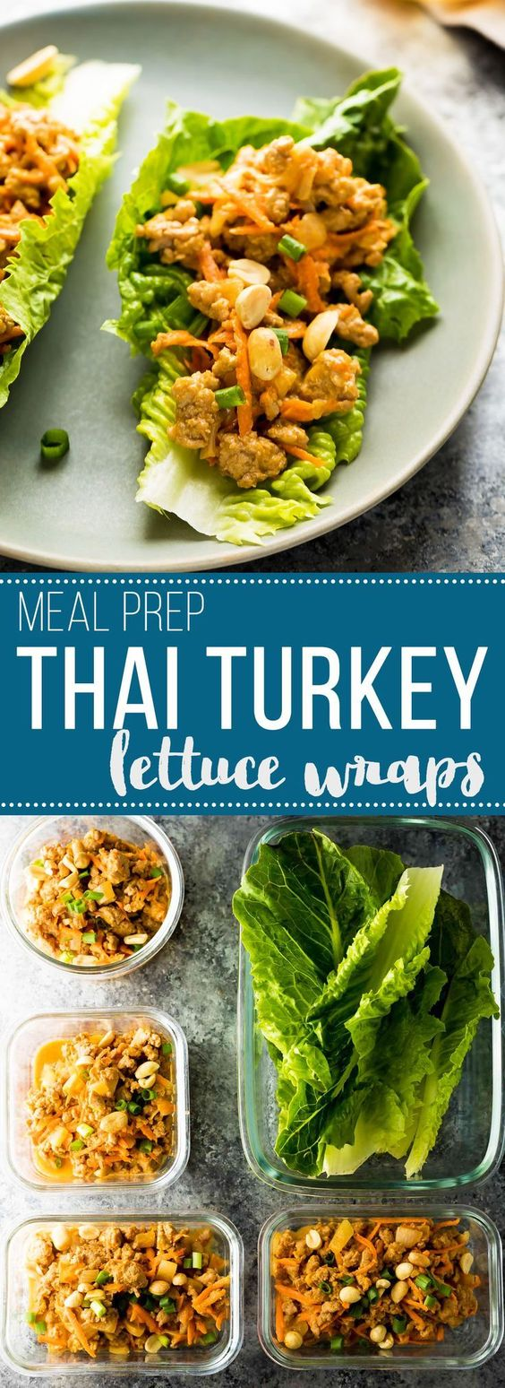 Thai Turkey Lettuce Wraps (Meal Prep)