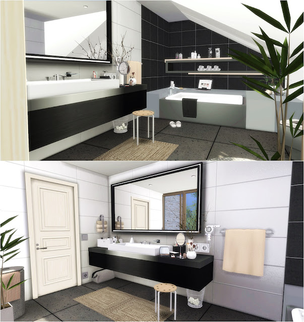 Attic Bathroom: L I N E Y S I M S: Modern Attic Bathroom