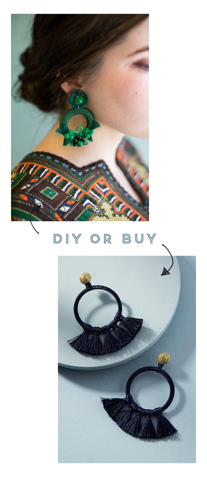 DIY OR BUY - STATEMENT EARRINGS. | Gathering Beauty