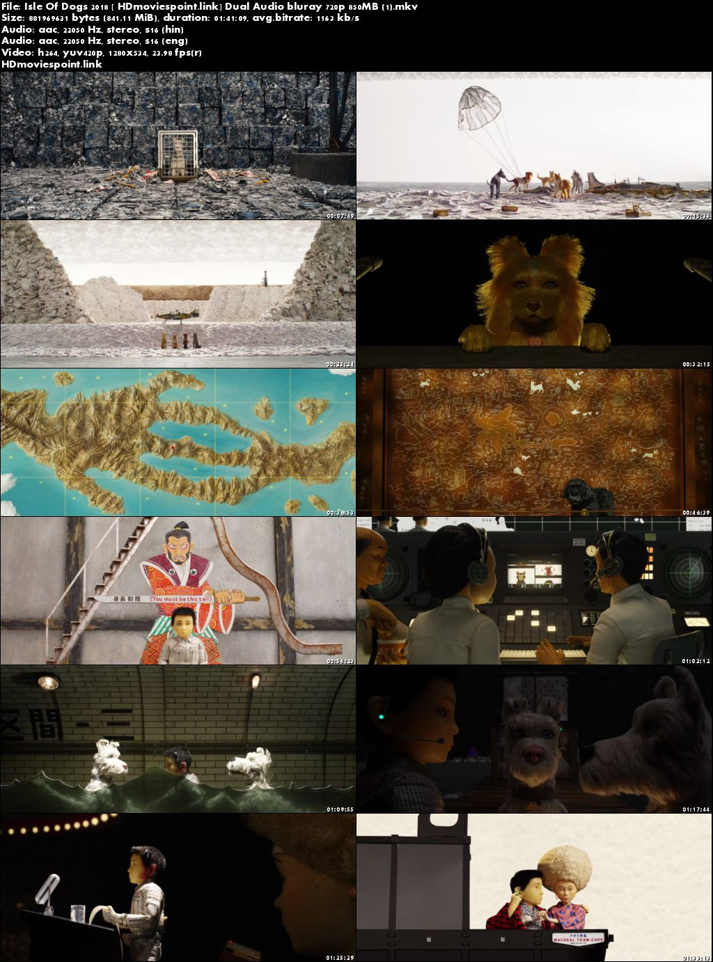 screen shot Isle Of Dogs 2018 Full Movie Download Dual Audio 720pa