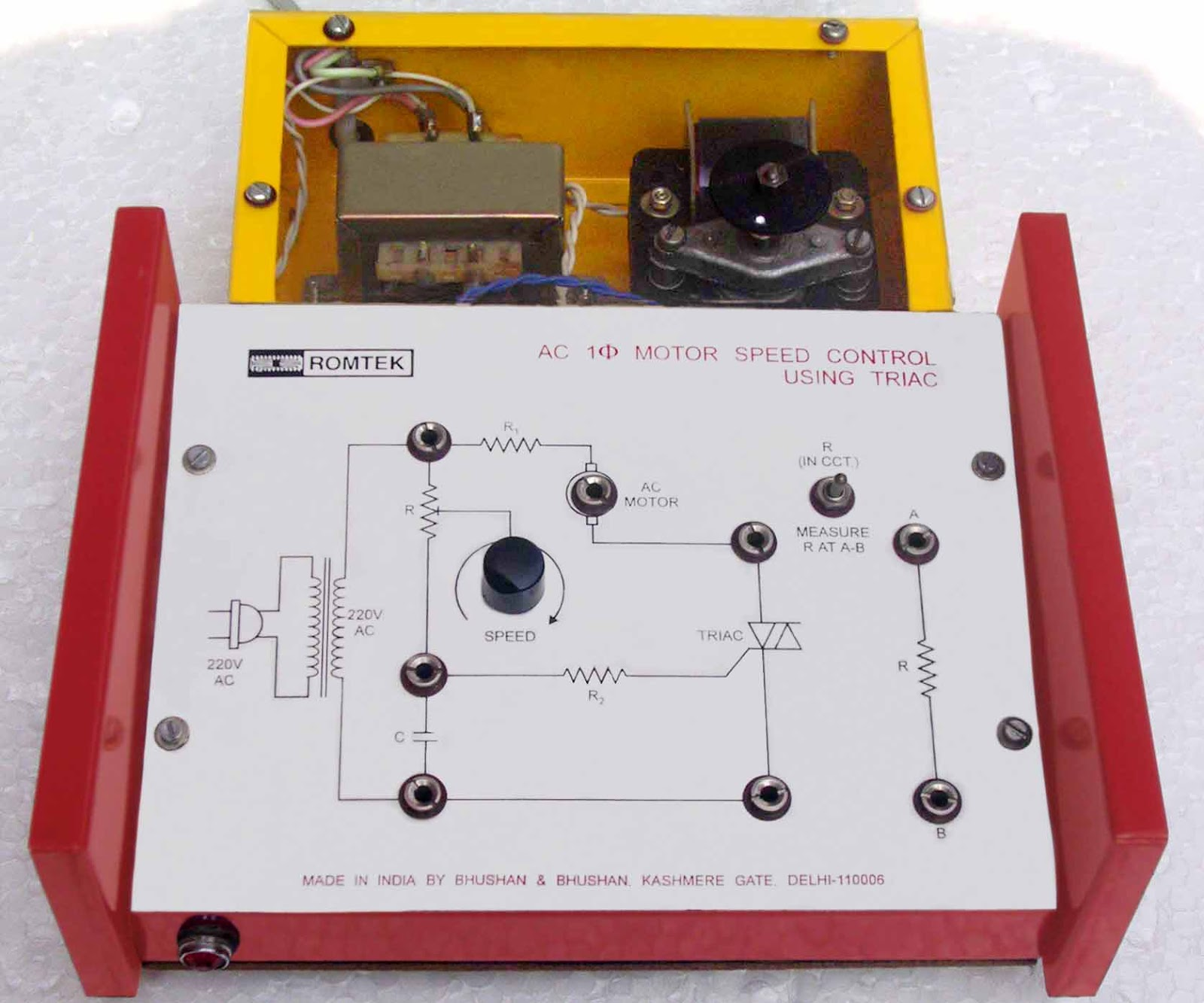 ac motor speed controller circuit diagram 3 phase contactor wiring start stop picture control of using scr