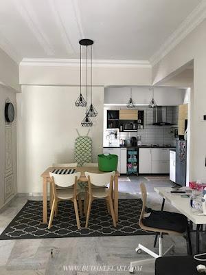 Dapur Dan Ruang Tamu Dah Nampak Macam Satu Je Salah Helah Nak Bagi Lebih Luas Adalah Dengan Adanya Open Planned Layout