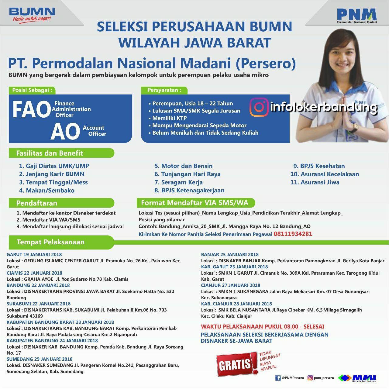 Lowongan Kerja PT. Permodalan Nasional Madani ( Persero) Januari 2018