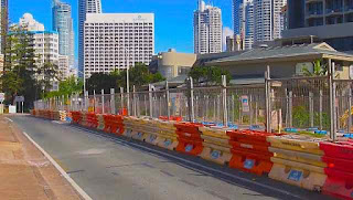 Light rail Construction August 2012 Ocean avenue Surfers Paradise