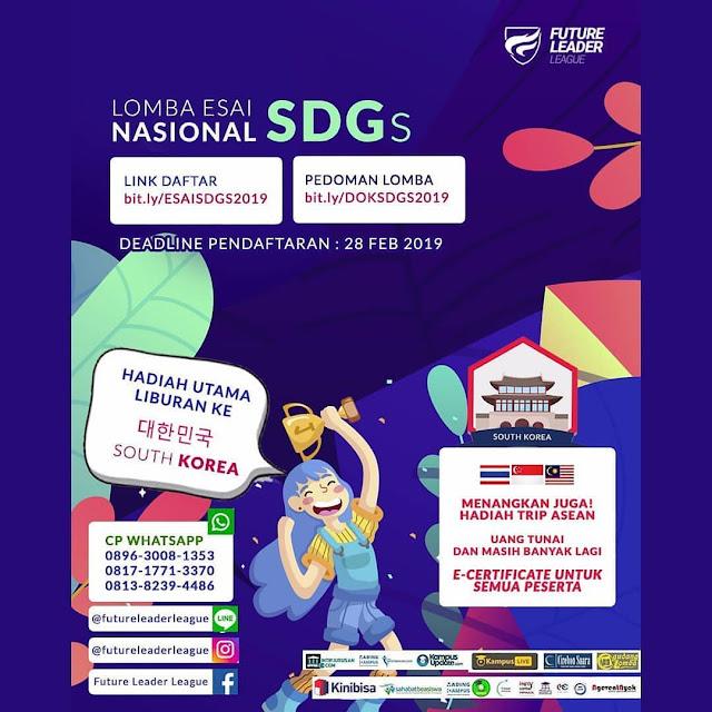 Lomba Essay Nasional SDGs 2019 Pemuda Pemudi 15-29 Tahun