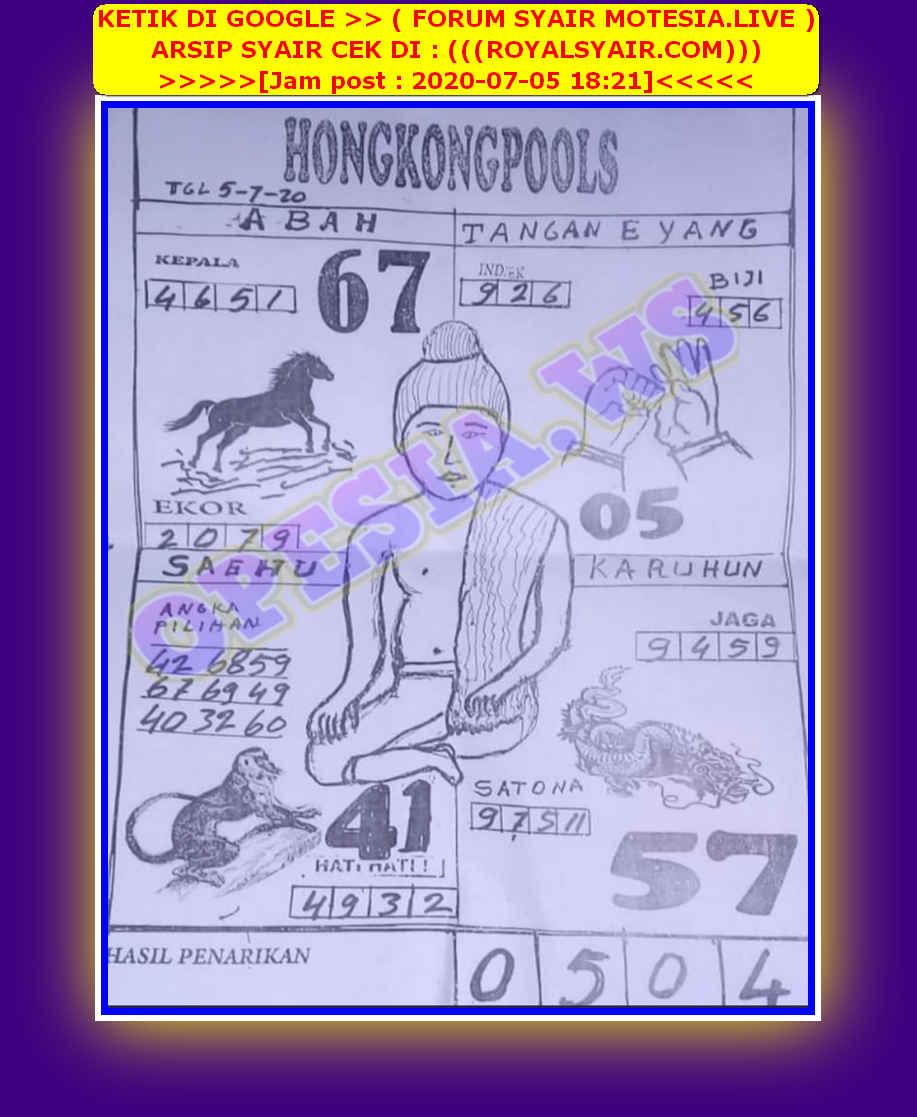 Kode syair Hongkong Minggu 5 Juli 2020 53