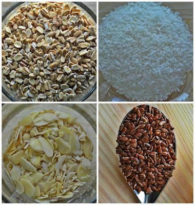 Granola kokosowo-migdałowa - składniki