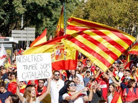 Opositores a independencia de Cataluña se reúnen en Barcelona