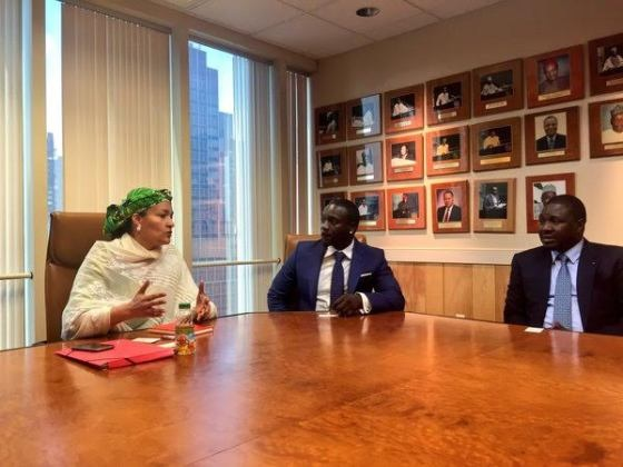 Akon meets Minister of Environment, Amina Mohammed, to discuss 'Great Green wall project', a pan-African proposal