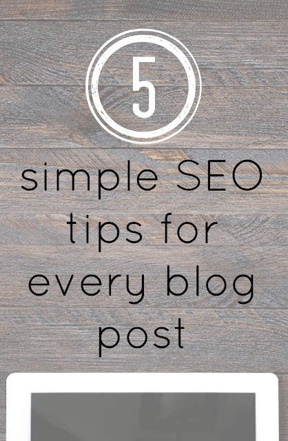 Simple SEO tips for every blog post