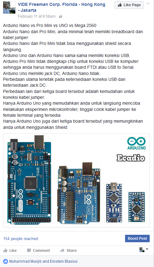 Dwika sudrajat people reached arduino nano vs pro