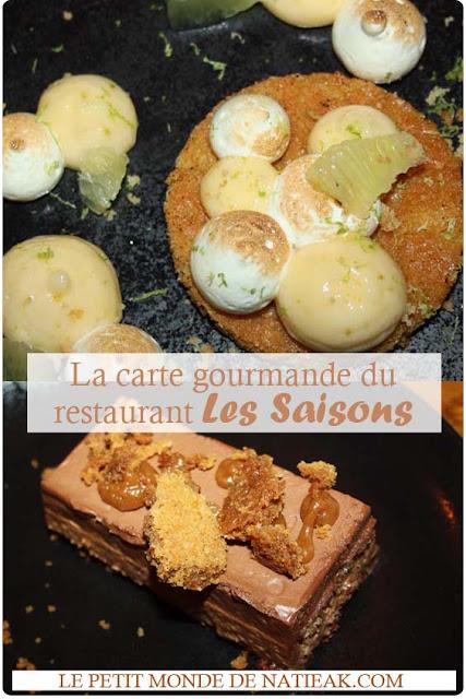 Restaurant Les saisons : la cuisine française aux produits du terroir