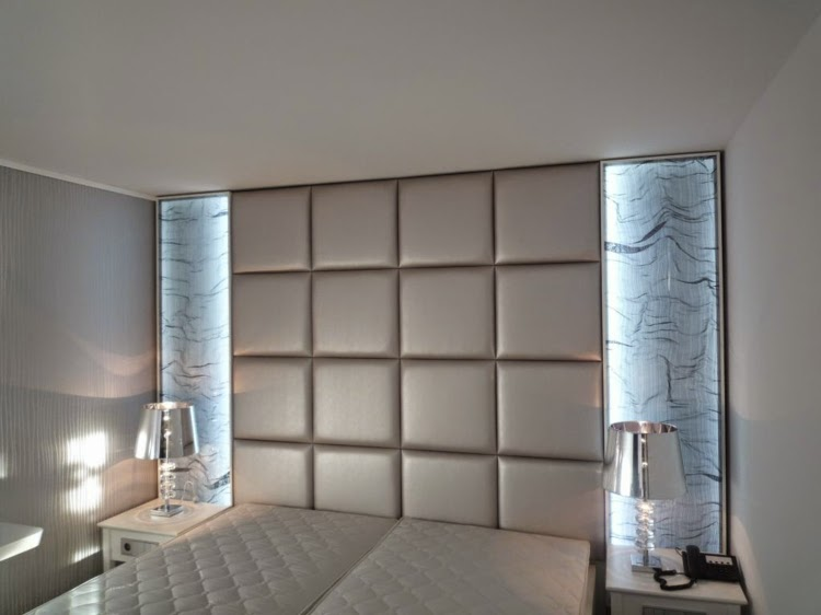 Decorative 3D wall panels: 3D wall panel with square patterns and LED lighting