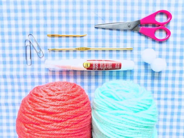 Crocheted Beanie Paper Clip