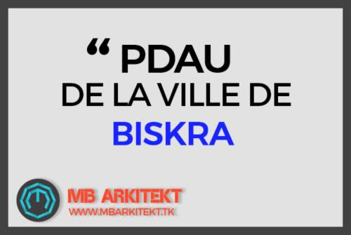PDAU VILLE DE BISKRA