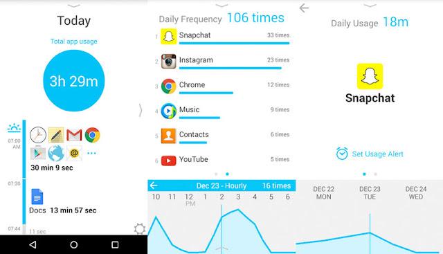 تحميل تطبيق معرفة الوقت الذي تقضيه على الهاتف وعلى كل تطبيق على حدة