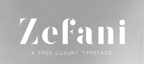 Download Font Terbaru dan Terbaik Januari 2016 - Zefani Free Typeface