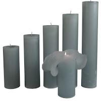 Velas mágicas - Vela gris en rituales
