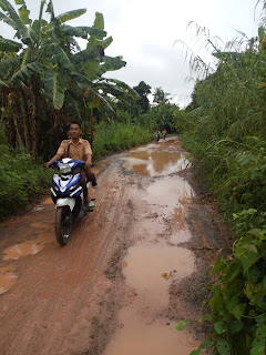 Jalan dan Jembatan Kecamatan Rantau Panjang Rusak