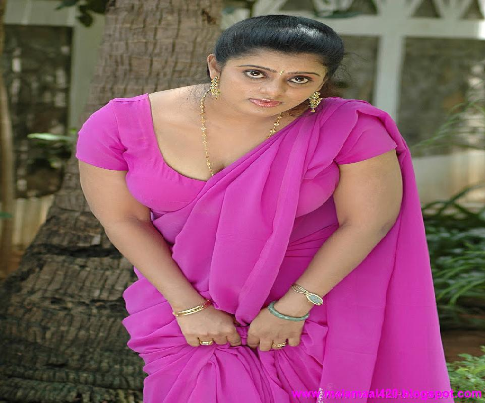 Mallu Aunty In Pink Blouse Hot Boobs Hot Pictures  Hot