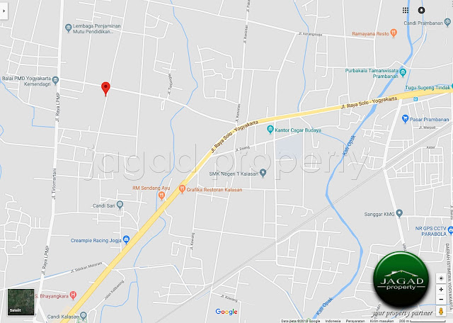 Tanah dekat Candi Prambanan jalan LPMP Kalasan